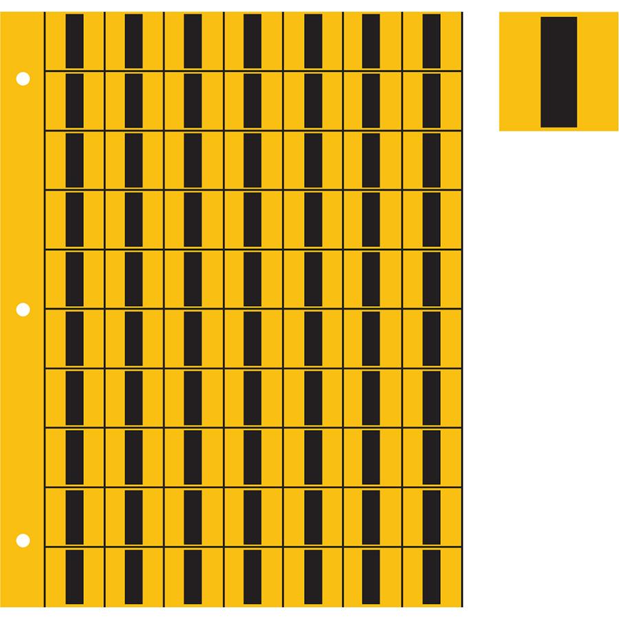 "1"" Black on Yellow Engineer Grade Reflective ""I"""