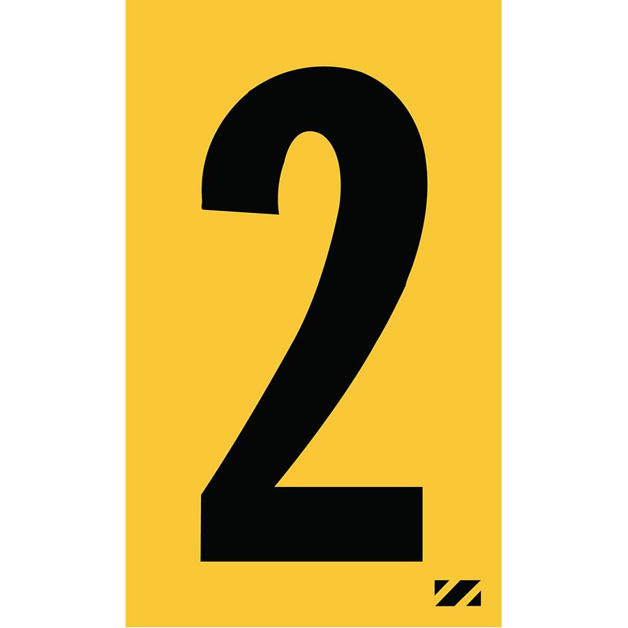 "2"" Black on Yellow Engineer Grade Reflective ""2"""