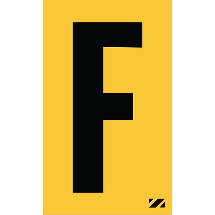 "2"" Black on Yellow Engineer Grade Reflective ""F"""