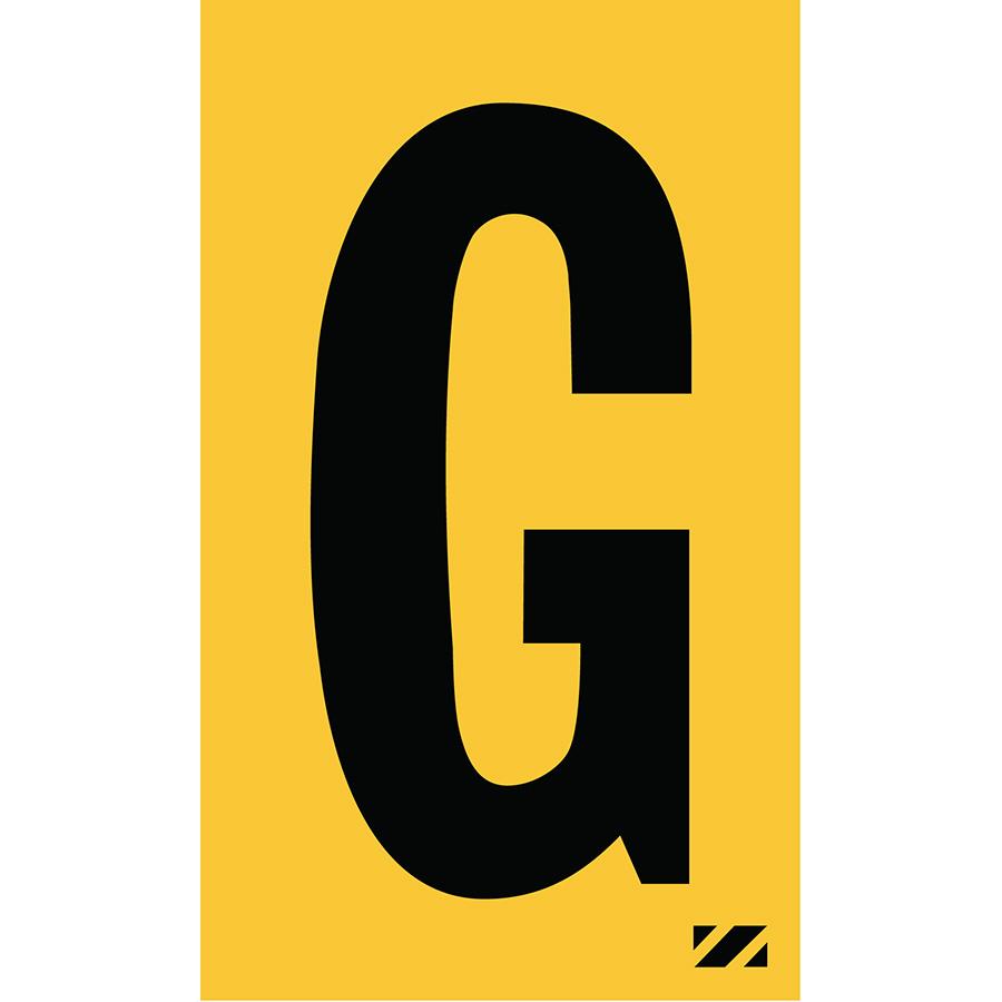 "2"" Black on Yellow Engineer Grade Reflective ""G"""