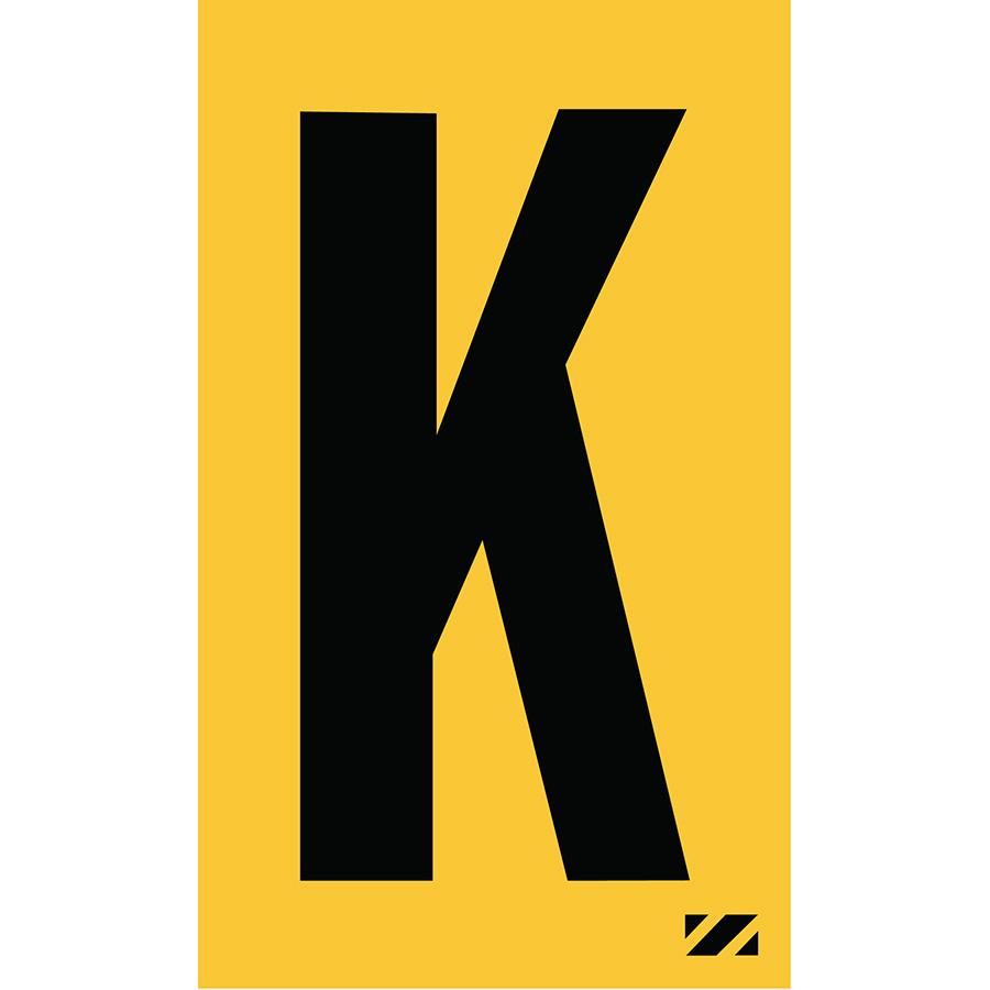 "2"" Black on Yellow Engineer Grade Reflective ""K"""