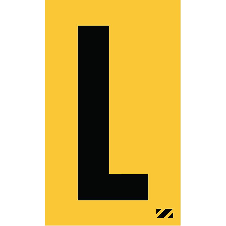 "2"" Black on Yellow Engineer Grade Reflective ""L"""