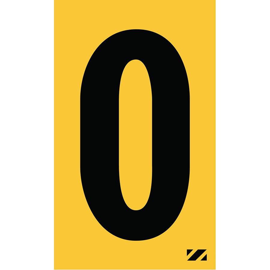"2"" Black on Yellow Engineer Grade Reflective ""O"""