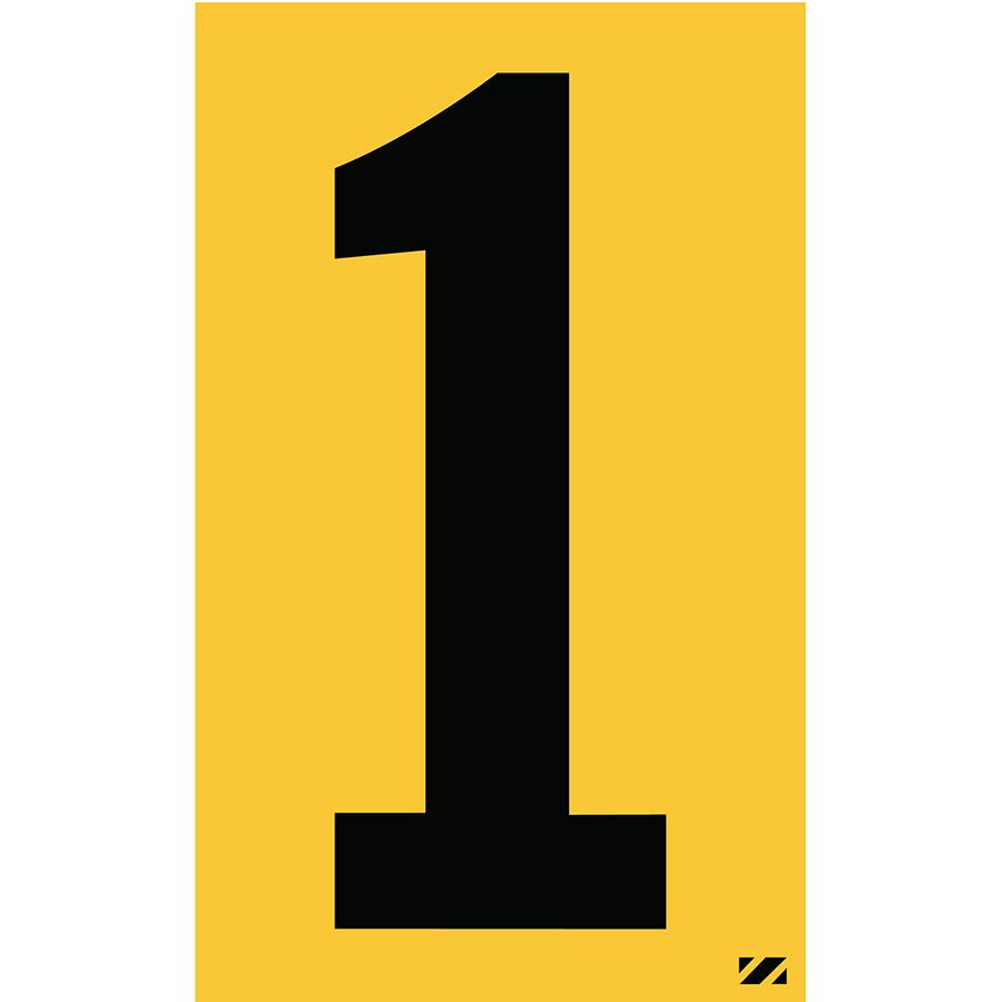 "2.5"" Black on Yellow Engineer Grade Reflective ""1"""