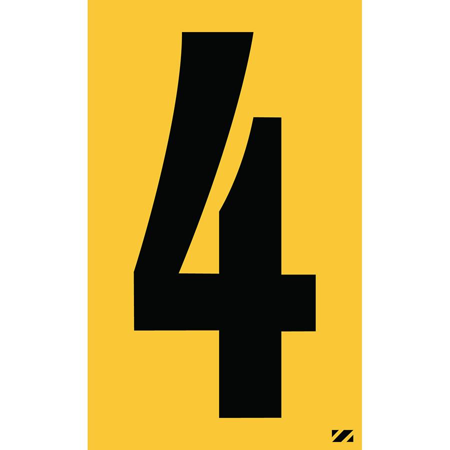 "2.5"" Black on Yellow Engineer Grade Reflective ""4"""
