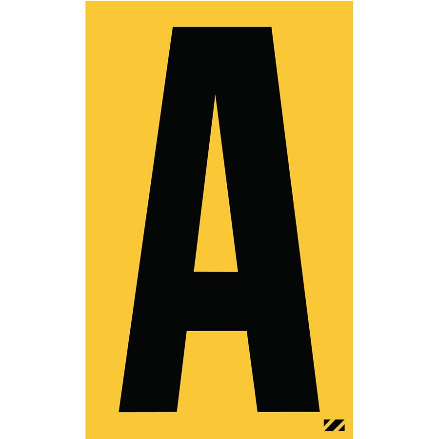 "2.5"" Black on Yellow Engineer Grade Reflective ""A"""