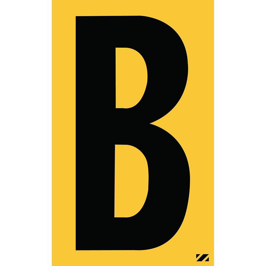 "2.5"" Black on Yellow Engineer Grade Reflective ""B"""