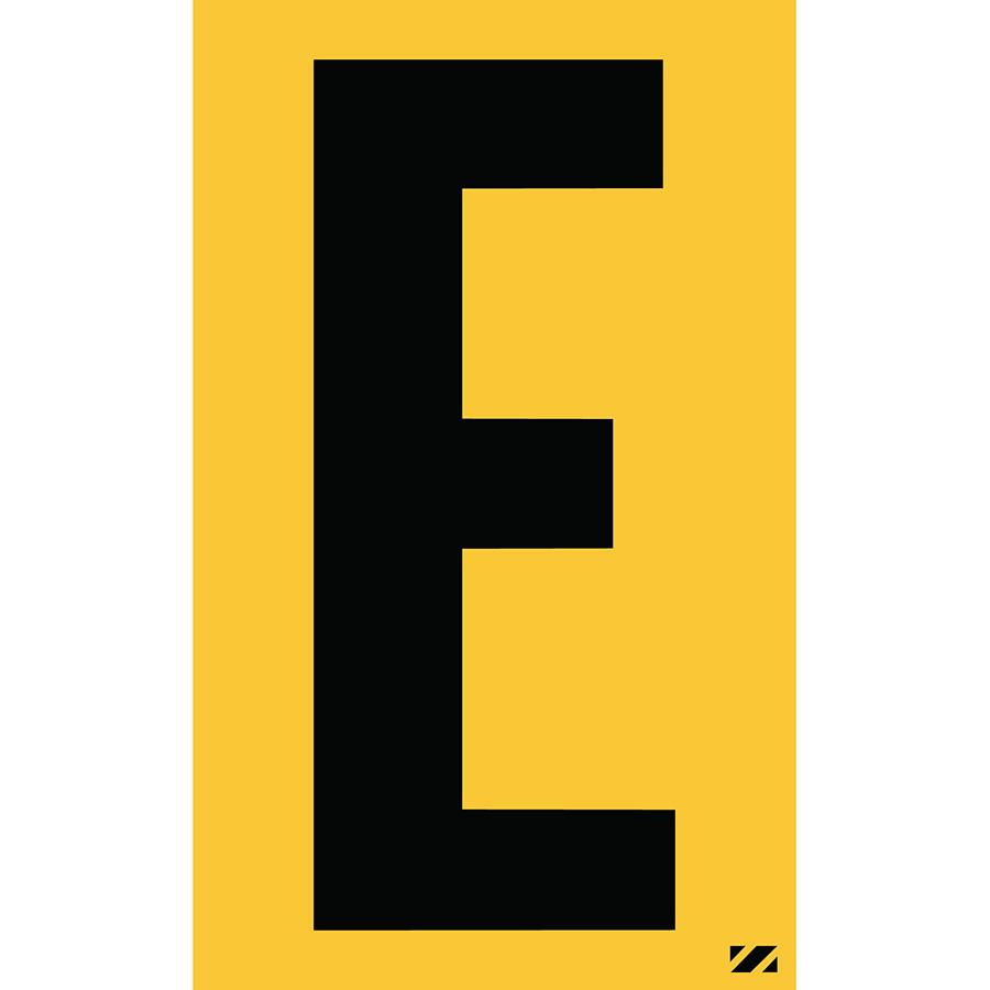 "2.5"" Black on Yellow Engineer Grade Reflective ""E"""