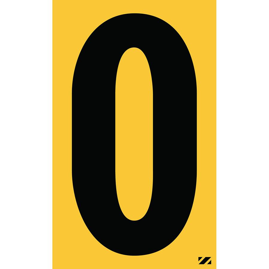 "2.5"" Black on Yellow Engineer Grade Reflective ""O"""