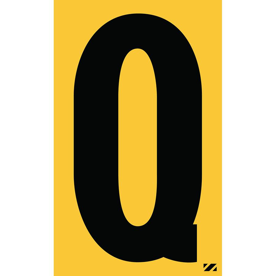 "2.5"" Black on Yellow Engineer Grade Reflective ""Q"""