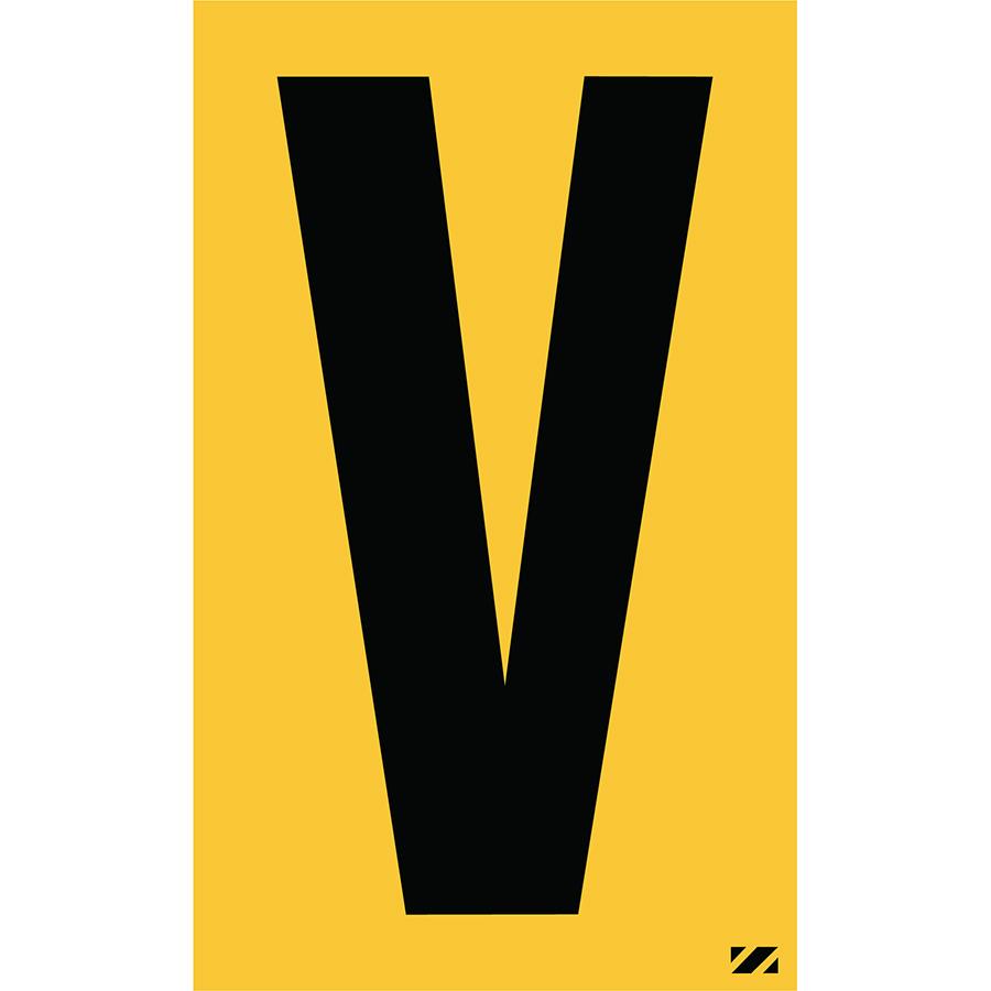 "2.5"" Black on Yellow Engineer Grade Reflective ""V"""