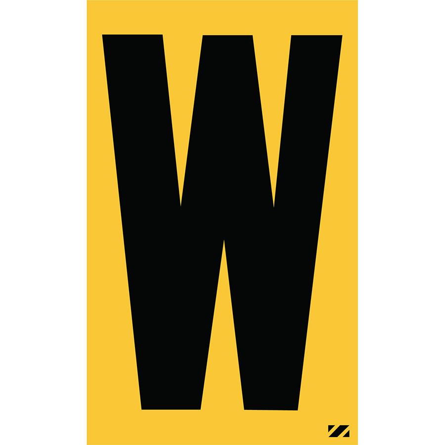 "2.5"" Black on Yellow Engineer Grade Reflective ""W"""
