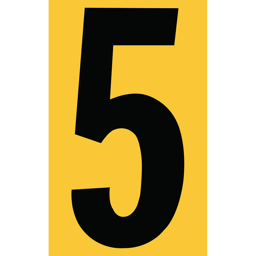 "3"" Black on Yellow Engineer Grade Reflective ""5"""