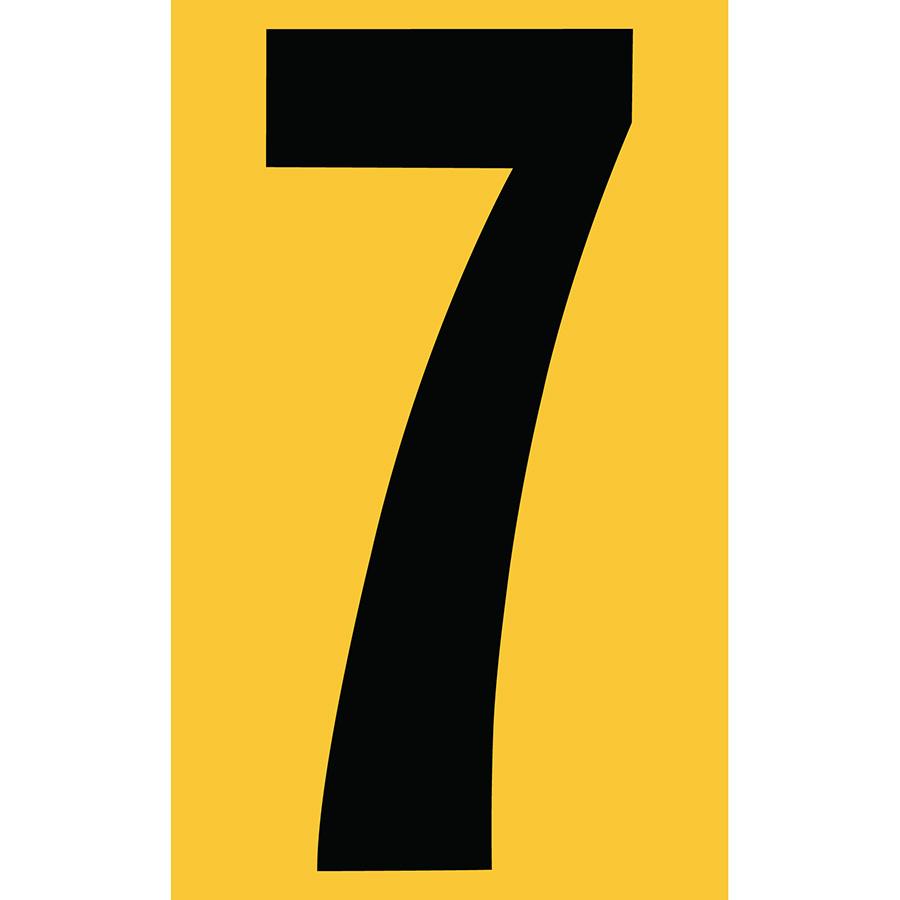 "3"" Black on Yellow Engineer Grade Reflective ""7"""