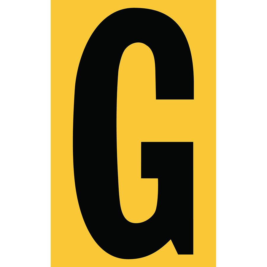 "3"" Black on Yellow Engineer Grade Reflective ""G"""