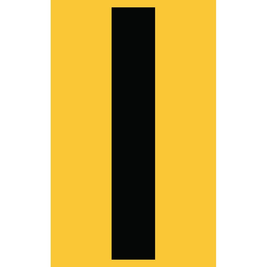 "3"" Black on Yellow Engineer Grade Reflective ""I"""