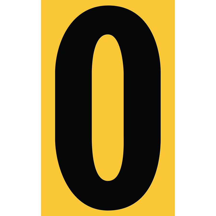 "3"" Black on Yellow Engineer Grade Reflective ""O"""