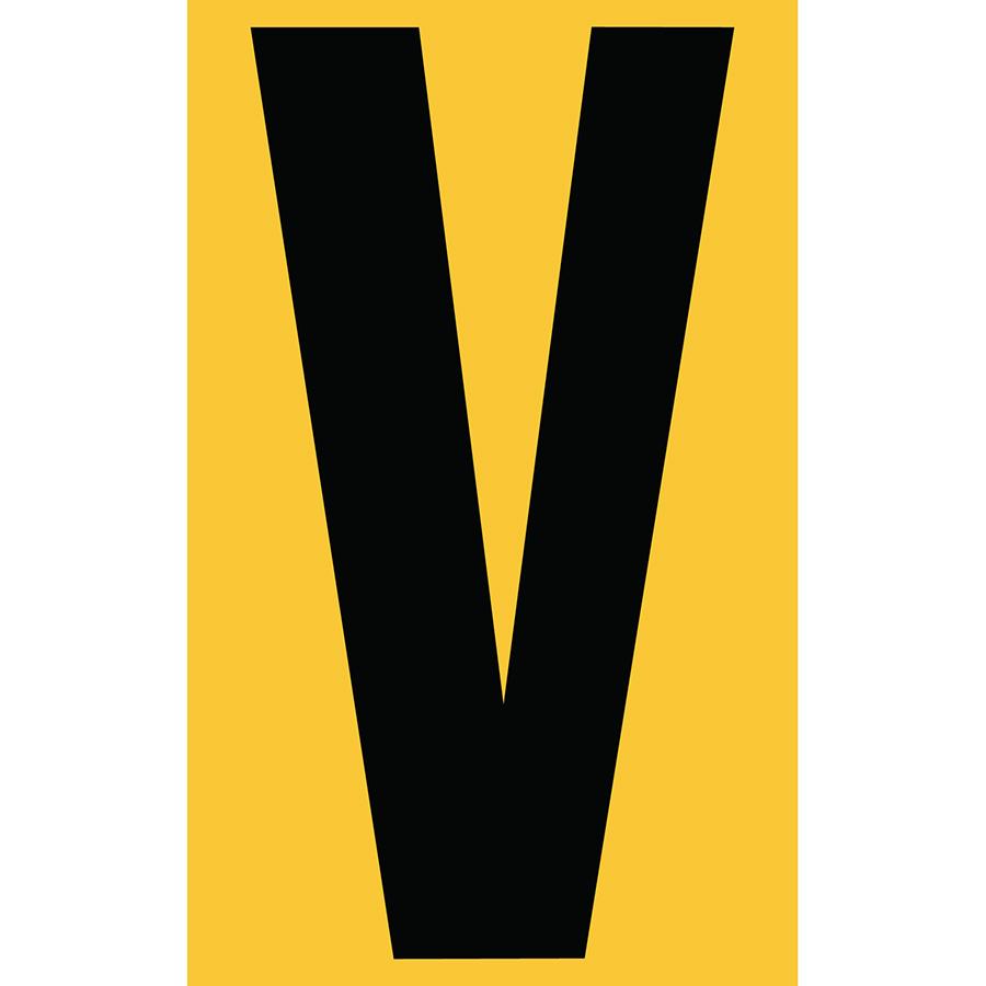 "3"" Black on Yellow Engineer Grade Reflective ""V"""