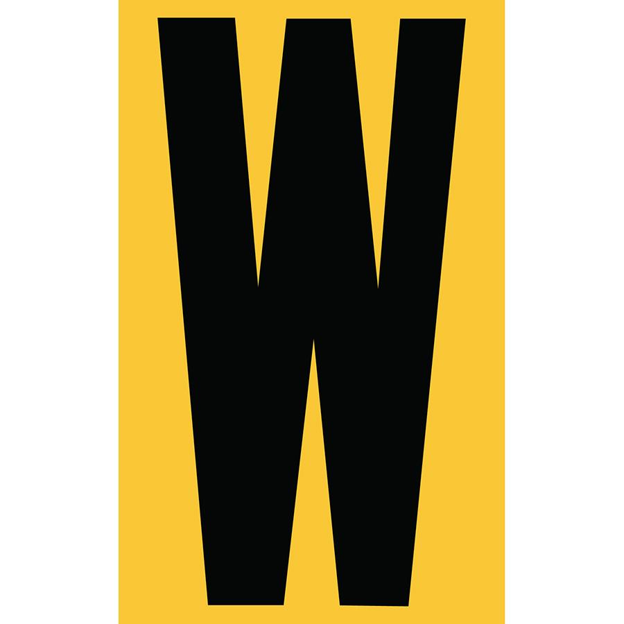 "3"" Black on Yellow Engineer Grade Reflective ""W"""