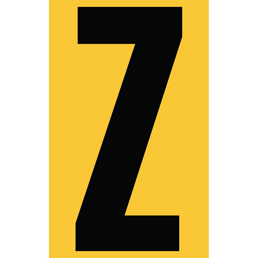 "3"" Black on Yellow Engineer Grade Reflective ""Z"""