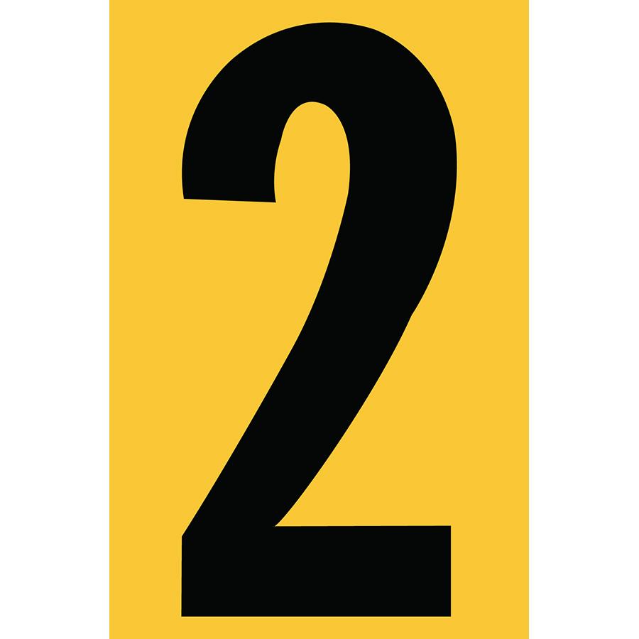 "4"" Black on Yellow Engineer Grade Reflective ""2"""