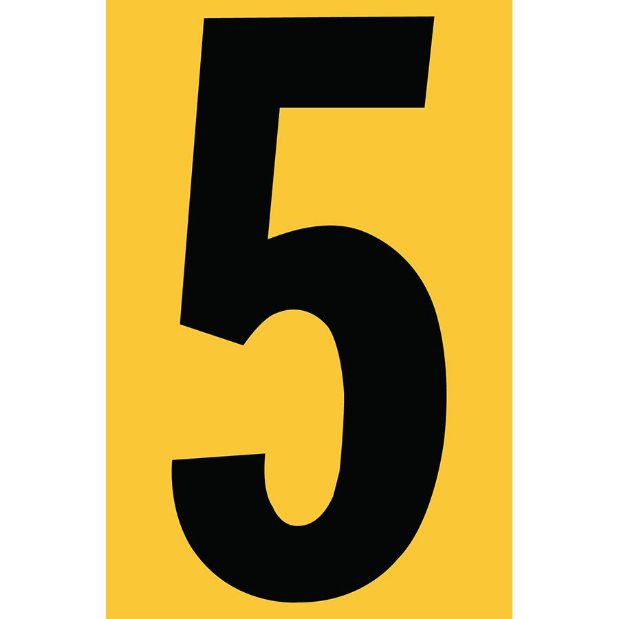"4"" Black on Yellow Engineer Grade Reflective ""5"""