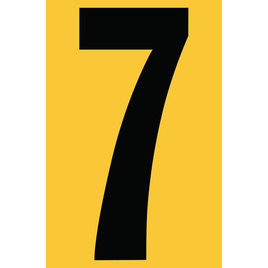 "4"" Black on Yellow Engineer Grade Reflective ""7"""