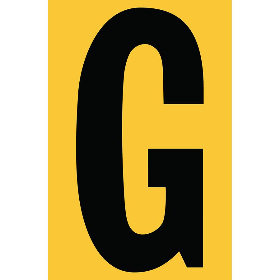 "4"" Black on Yellow Engineer Grade Reflective ""G"""