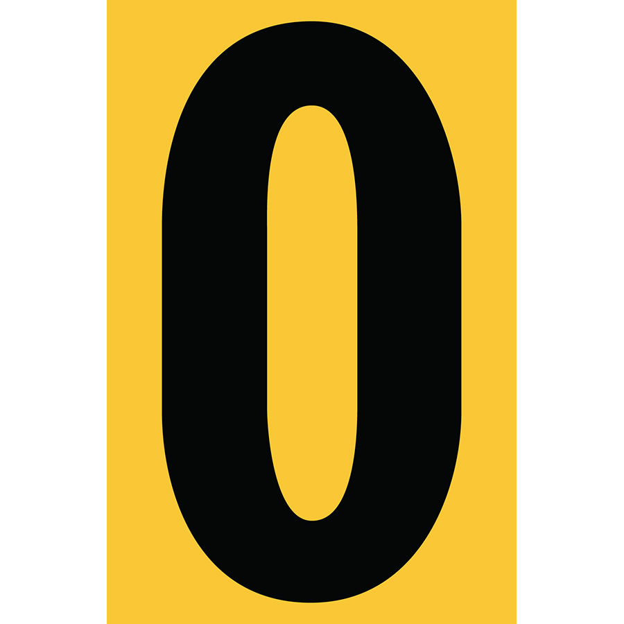 "4"" Black on Yellow Engineer Grade Reflective ""O"""