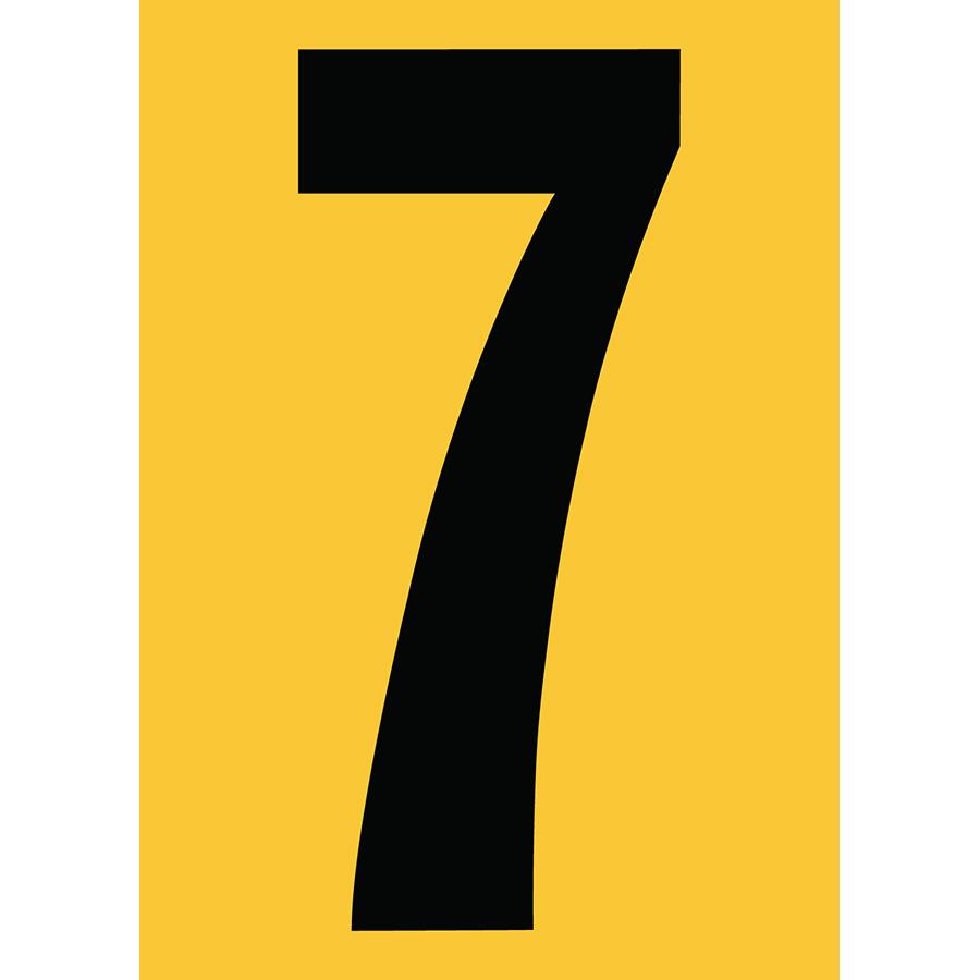 "6"" Black on Yellow Engineer Grade Reflective ""7"""