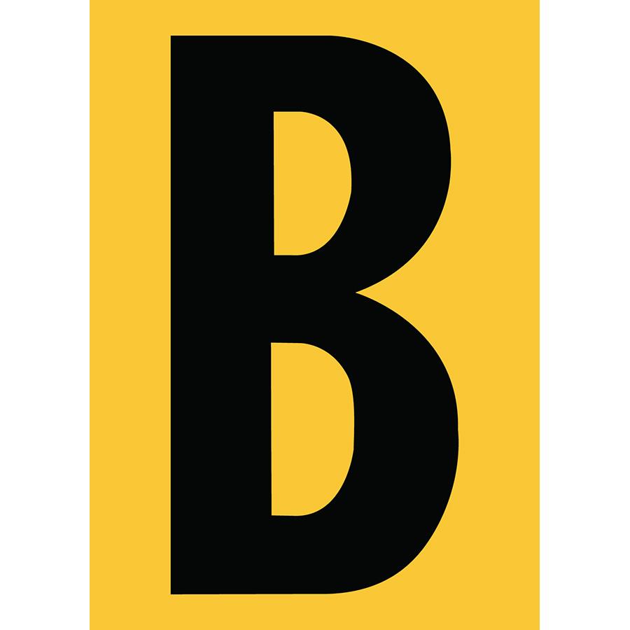 "6"" Black on Yellow Engineer Grade Reflective ""B"""