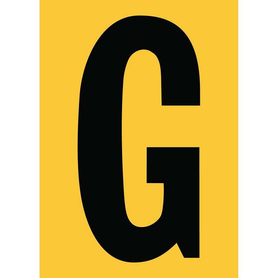 "6"" Black on Yellow Engineer Grade Reflective ""G"""