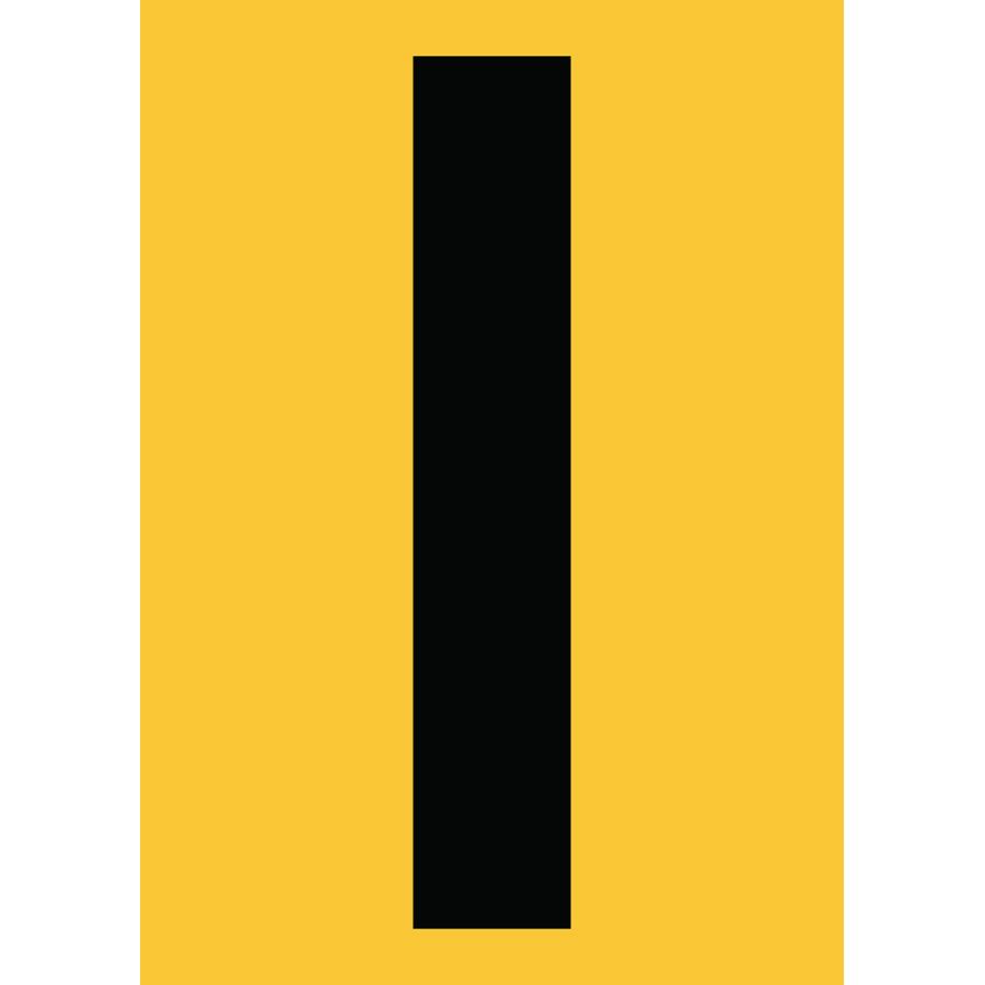 "6"" Black on Yellow Engineer Grade Reflective ""I"""