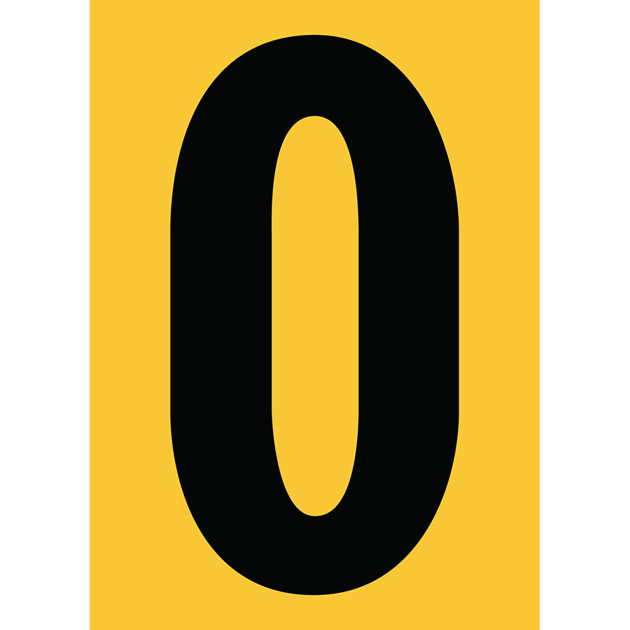 "6"" Black on Yellow Engineer Grade Reflective ""O"""