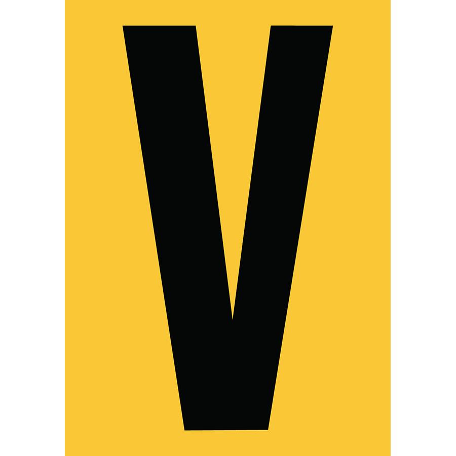 "6"" Black on Yellow Engineer Grade Reflective ""V"""