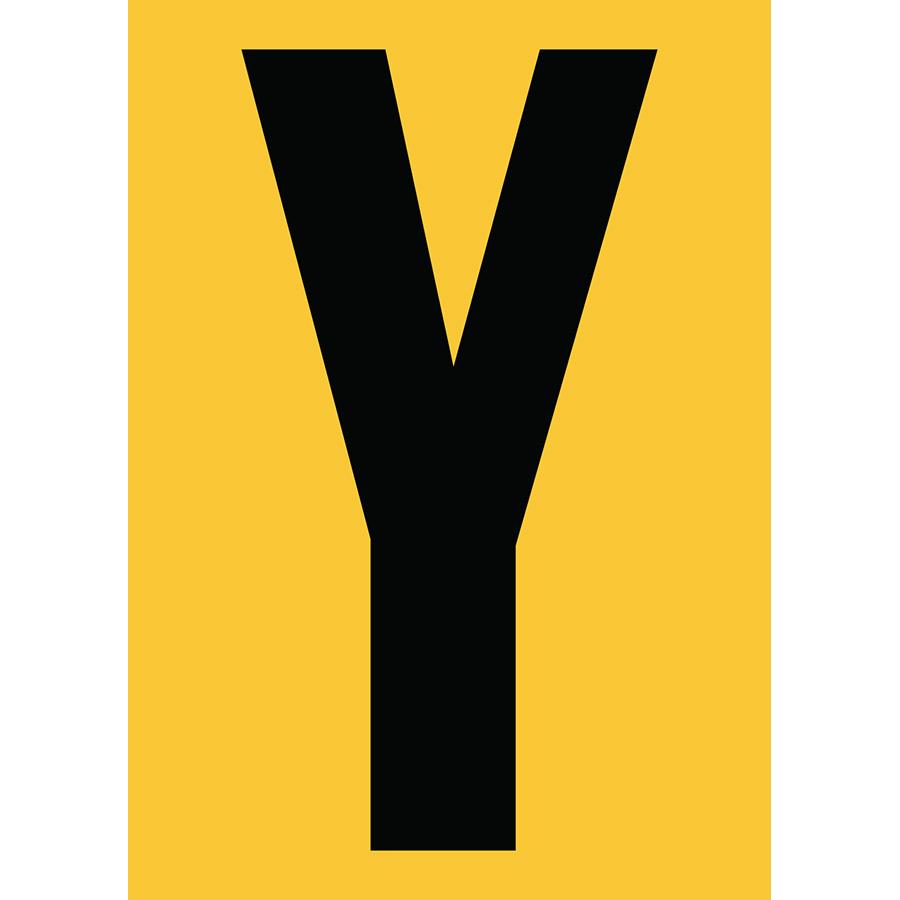 "6"" Black on Yellow Engineer Grade Reflective ""Y"""