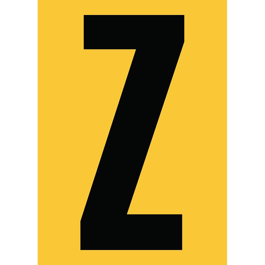 "6"" Black on Yellow Engineer Grade Reflective ""Z"""