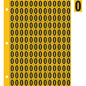 "0.78"" Black on Yellow Engineer Grade Reflective ""0"""