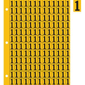 "0.78"" Black on Yellow Engineer Grade Reflective ""1"""