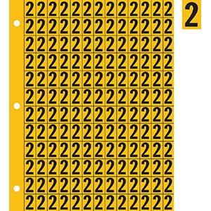 "0.78"" Black on Yellow Engineer Grade Reflective ""2"""
