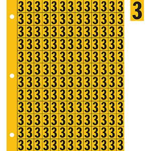 "0.78"" Black on Yellow Engineer Grade Reflective ""3"""