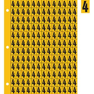 "0.78"" Black on Yellow Engineer Grade Reflective ""4"""