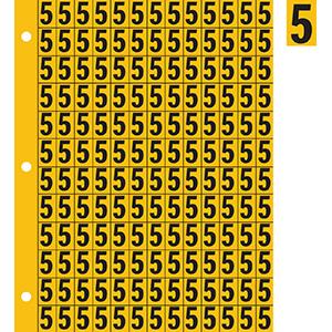 "0.78"" Black on Yellow Engineer Grade Reflective ""5"""