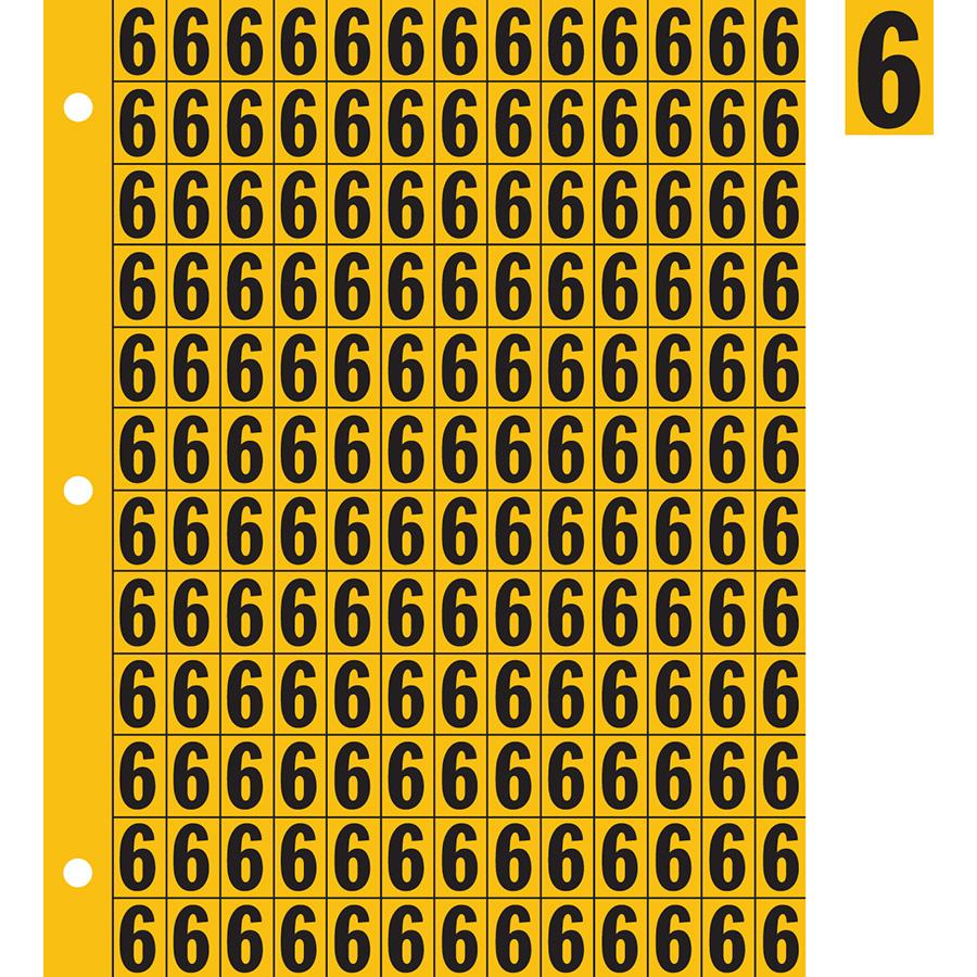 "0.78"" Black on Yellow Engineer Grade Reflective ""6"""