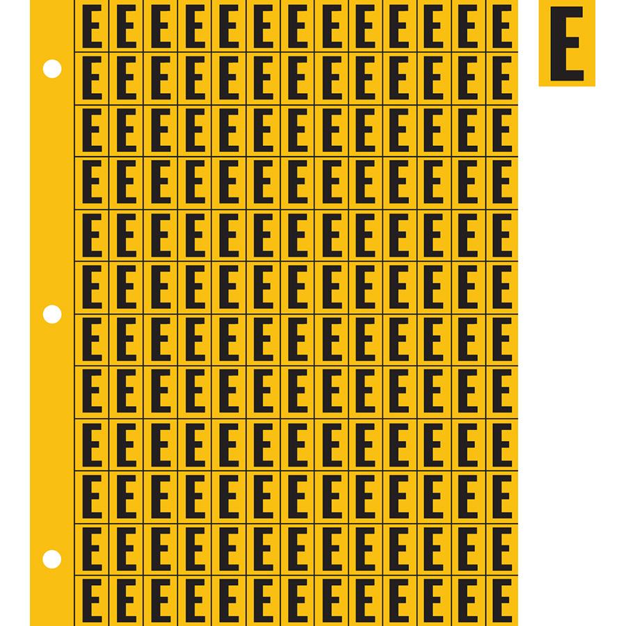 "0.78"" Black on Yellow Engineer Grade Reflective ""E"""