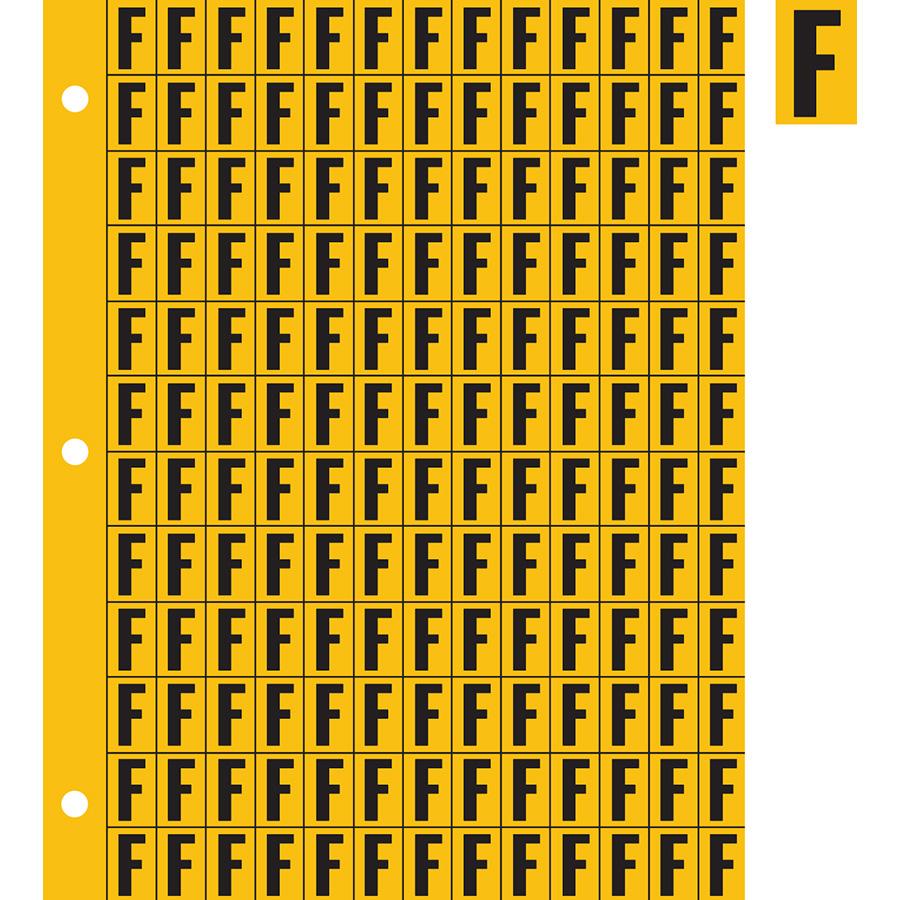 "0.78"" Black on Yellow Engineer Grade Reflective ""F"""