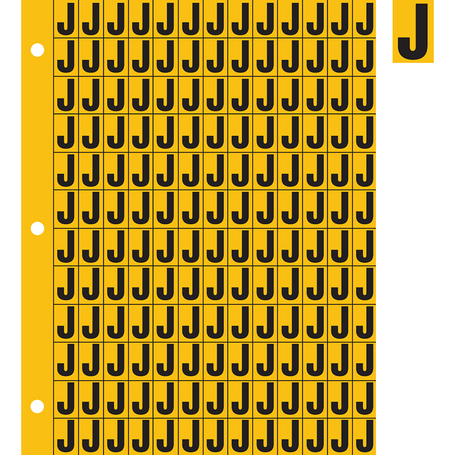 "0.78"" Black on Yellow Engineer Grade Reflective ""J"""