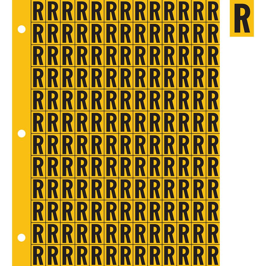 "0.78"" Black on Yellow Engineer Grade Reflective ""R"""
