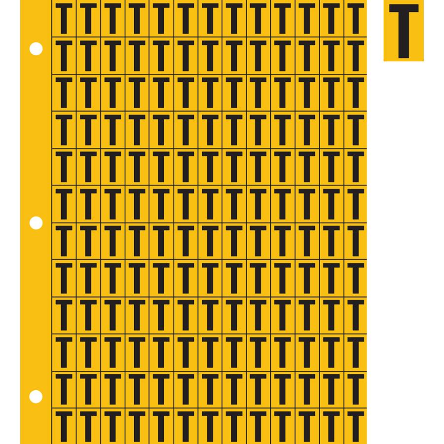 "0.78"" Black on Yellow Engineer Grade Reflective ""T"""