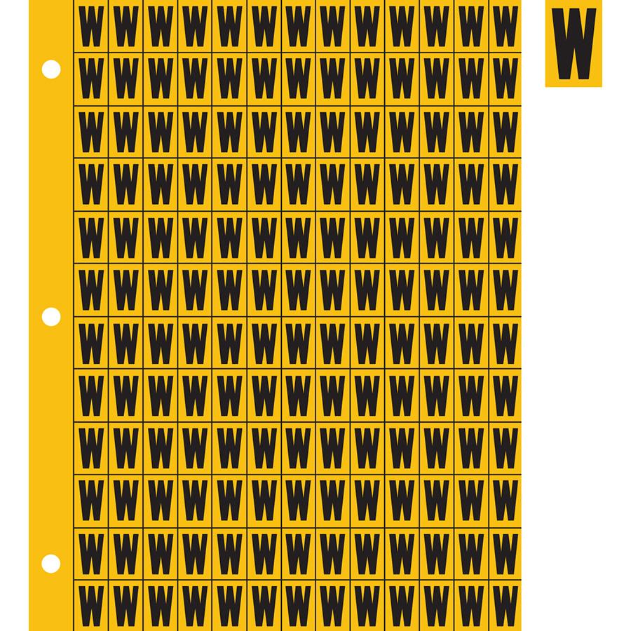 "0.78"" Black on Yellow Engineer Grade Reflective ""W"""
